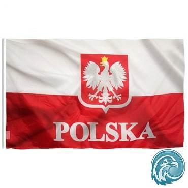 drapeau pologne aigle