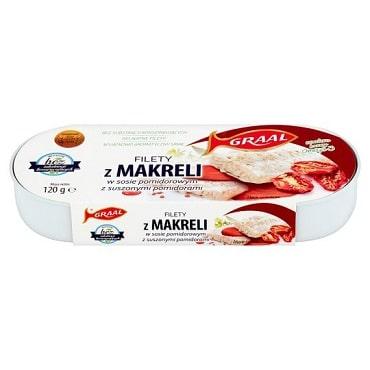 Graal Filety z makreli w sosie pomidorowym z suszonymi pomidorami